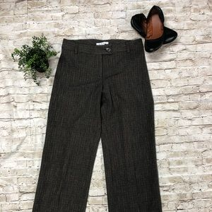 CABi Brown & Gray Pinstripe Dress Pants SZ 8